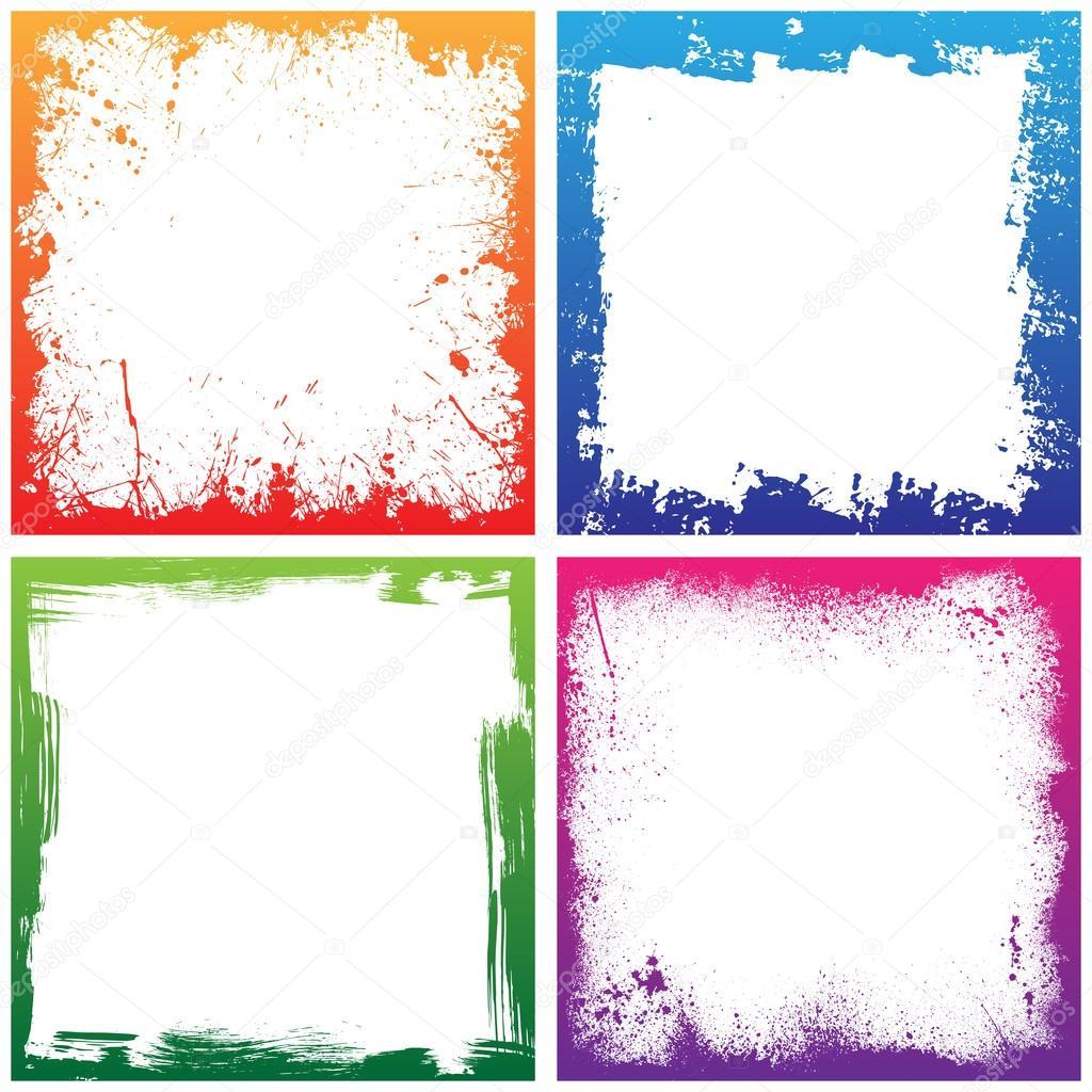 Four color frames — Stock Vector © longquattro #78205952
