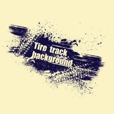 Grunge tire track background