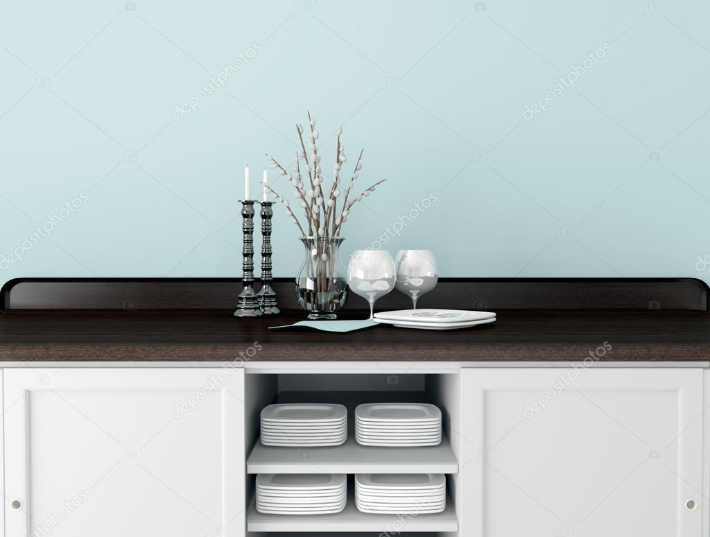 klassische Küchendesign — Stockfoto © kosheen #51855891