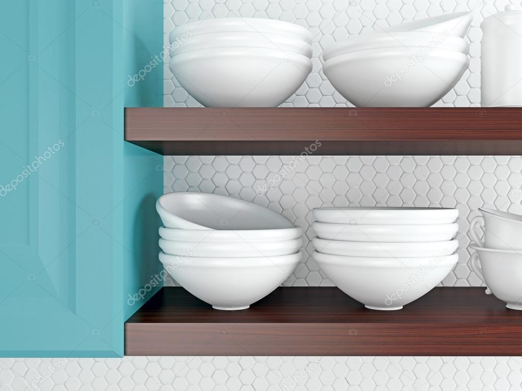 White kitchenware. — Stock Photo © kosheen #58051419