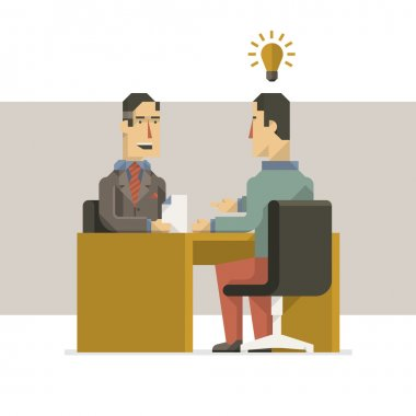 business people in interview