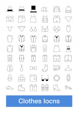 People clothes icons