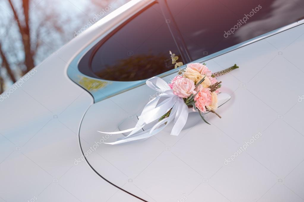 Luxury Wedding Car Decorated With Flowers Stock Photo C Dimabl