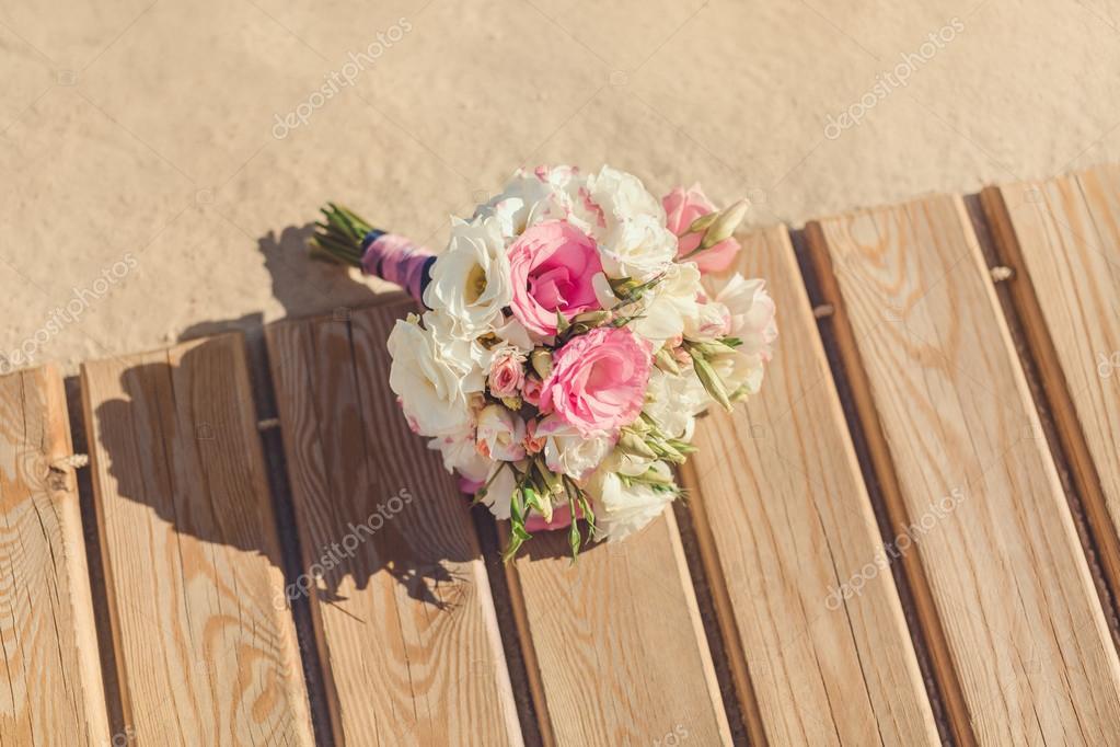 Brides Bouquet on Tropical Beach