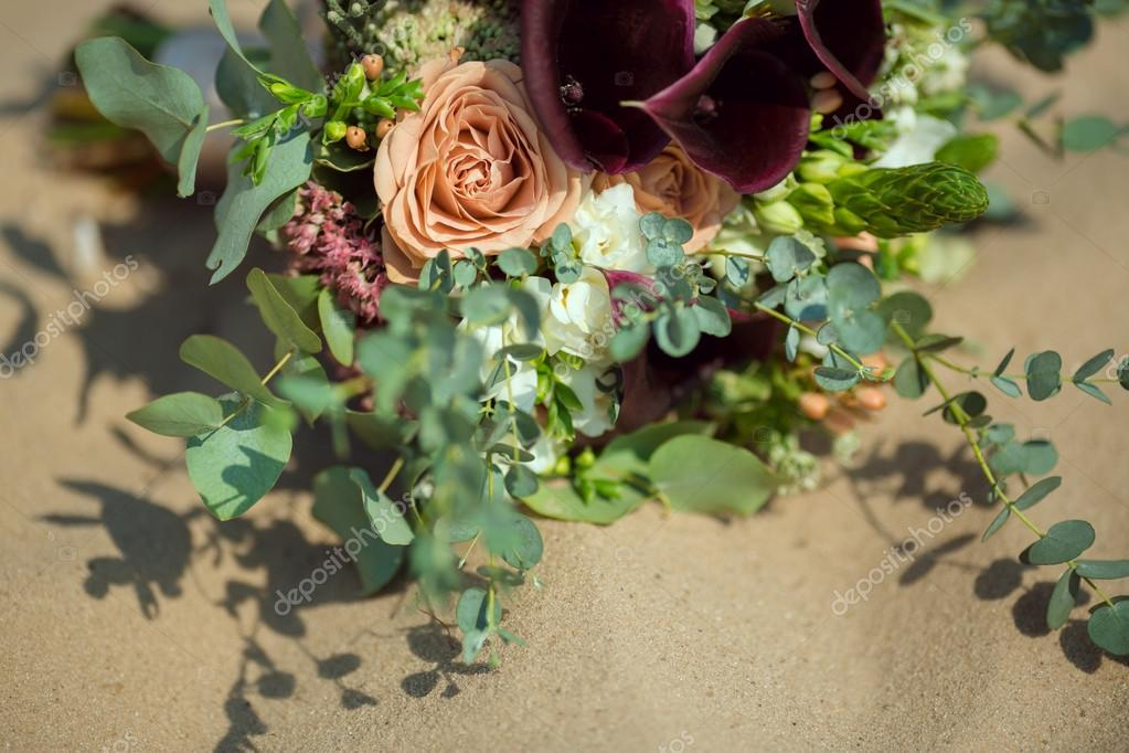 Brides Bouquet on Sand