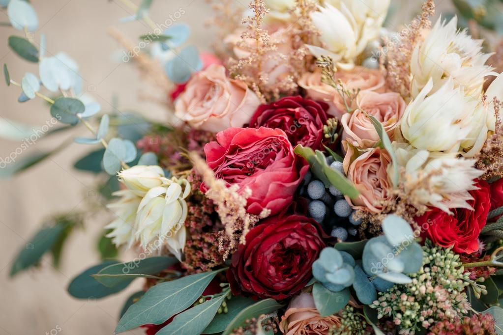 Schone Bunte Hochzeitsstrauss Stockfoto C Dimabl 108684844