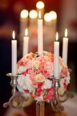 Fotografie Hochzeit Blumen Dekoration mit Kerzen