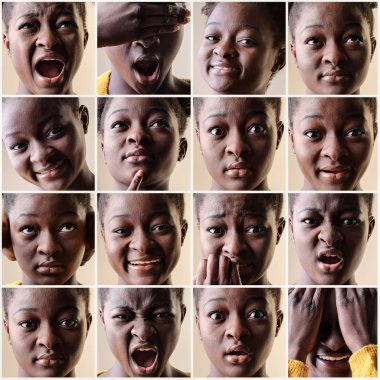 Woman with different expressions