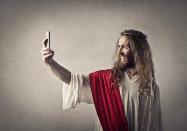 Jesus Christ taking a selfie