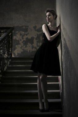 Woman in the corridor