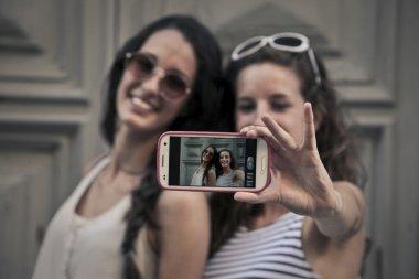 Two friends doing a selfie
