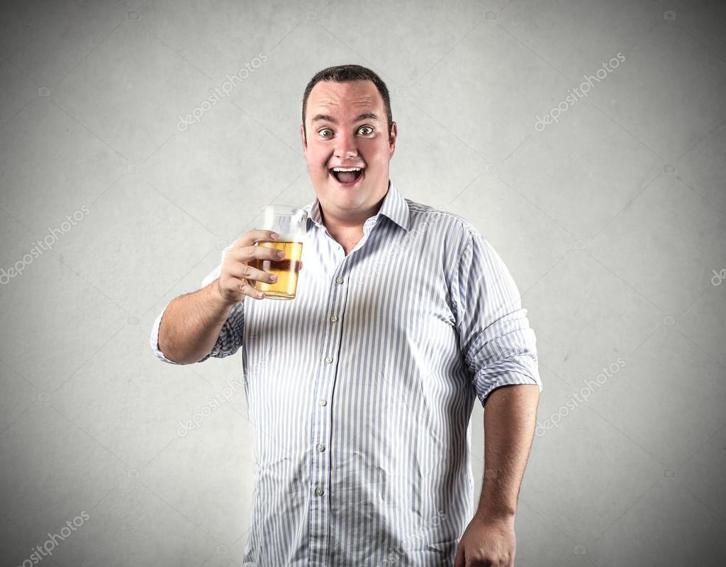 A man with a chubby