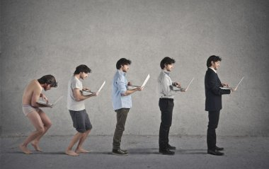 Businessman evolution