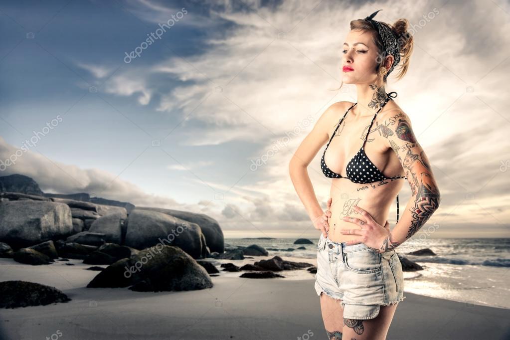 Tattoos on sand