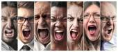 Fotografie Angry people screaming
