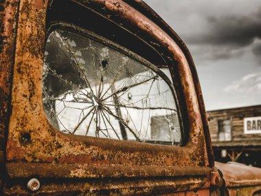 Retro Rusty Truck And Bar