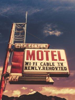 Retro Vintage Motel Sign