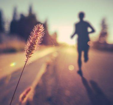 Fitness Training For Marathon At Sunset
