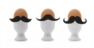 Three Eggs with mustaches for Movember