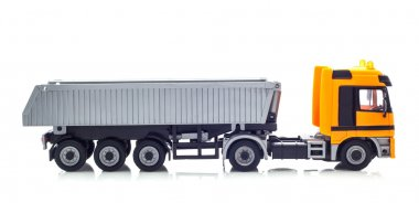 Tipper Truck on White Background