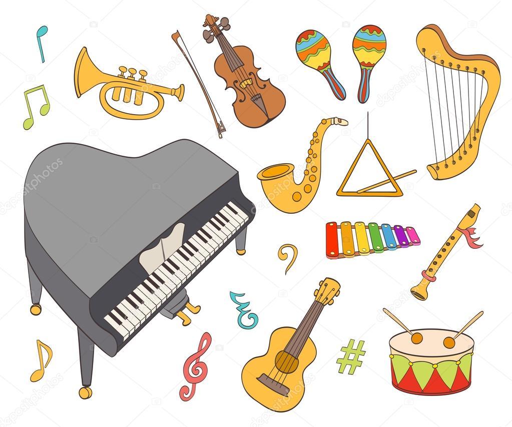 Vector: Instrumentos Musicales Dibujo