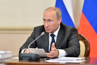 Vladimir Putin at the state Council Presidium meeting