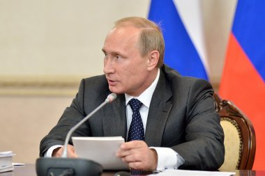 Vladimir Putin at the state Council Presidium meeting