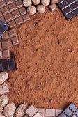 Zátiší čokolády kakao