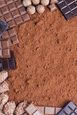 Fotografie Zátiší čokolády kakao