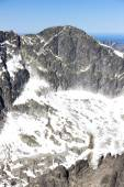 Photo view from Lomnicky Peak, Vysoke Tatry (High Tatras), Slovakia