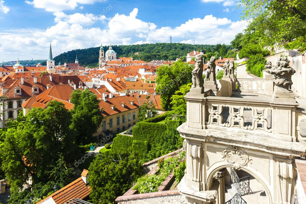 Ledeburska Garden and Saint Nicholas Church, Prague — Stock Photo ...