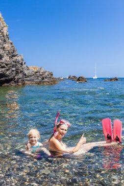 snorkeling in Mediterranean Sea, France