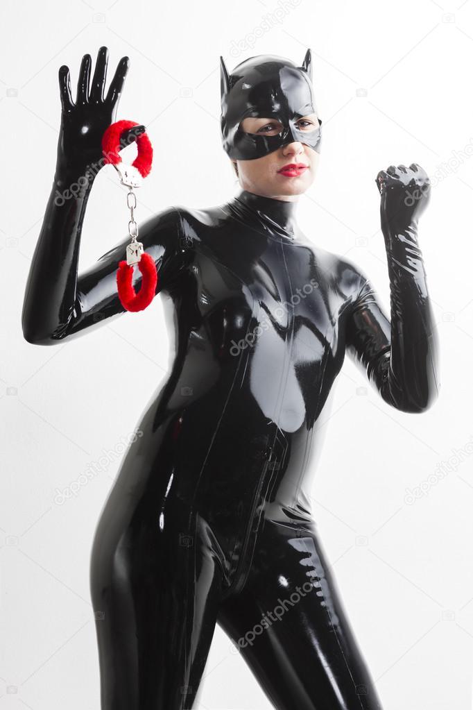 fetisch gummihandschuhe catwoman kostüm latex