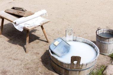 washing, Kaszubski ethnographic park in Wdzydzki Park Krajobrazo