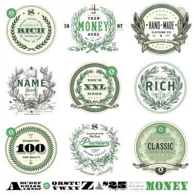 Vector Money Badge Set