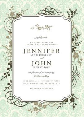 Summer flowers wedding invitation