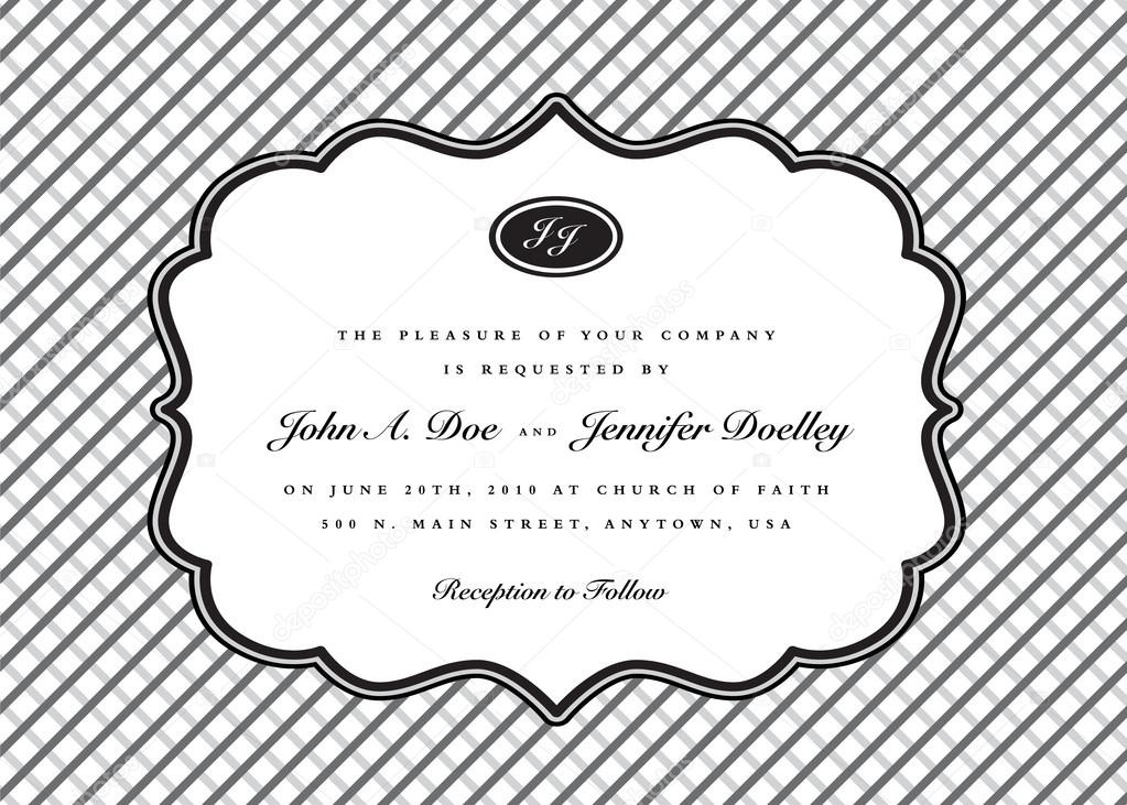 Classic frame wedding invitation stock vector createfirst 68456951 classic frame wedding invitation stock vector stopboris Gallery