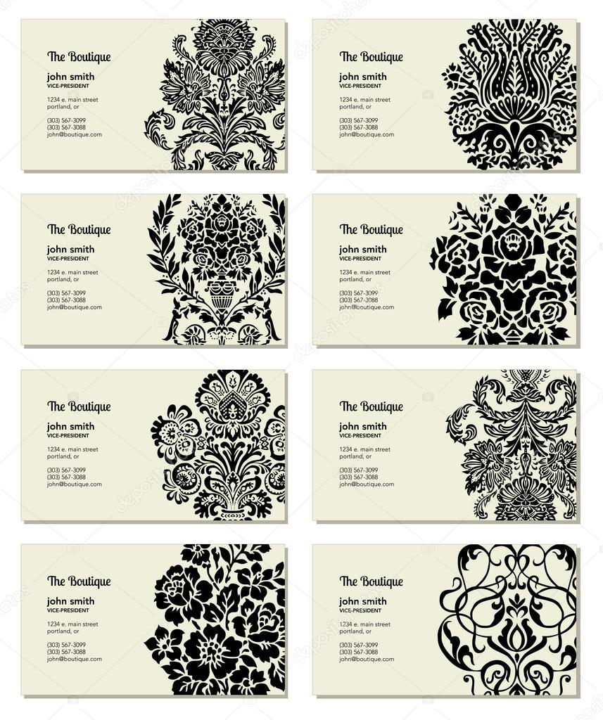 Vector Victorian Business Card Set — Stock Vector © createfirst ...