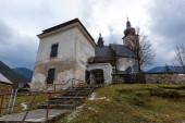 starý kostel ve městě Liptovský leden. Vezměte si ho na Slovensku