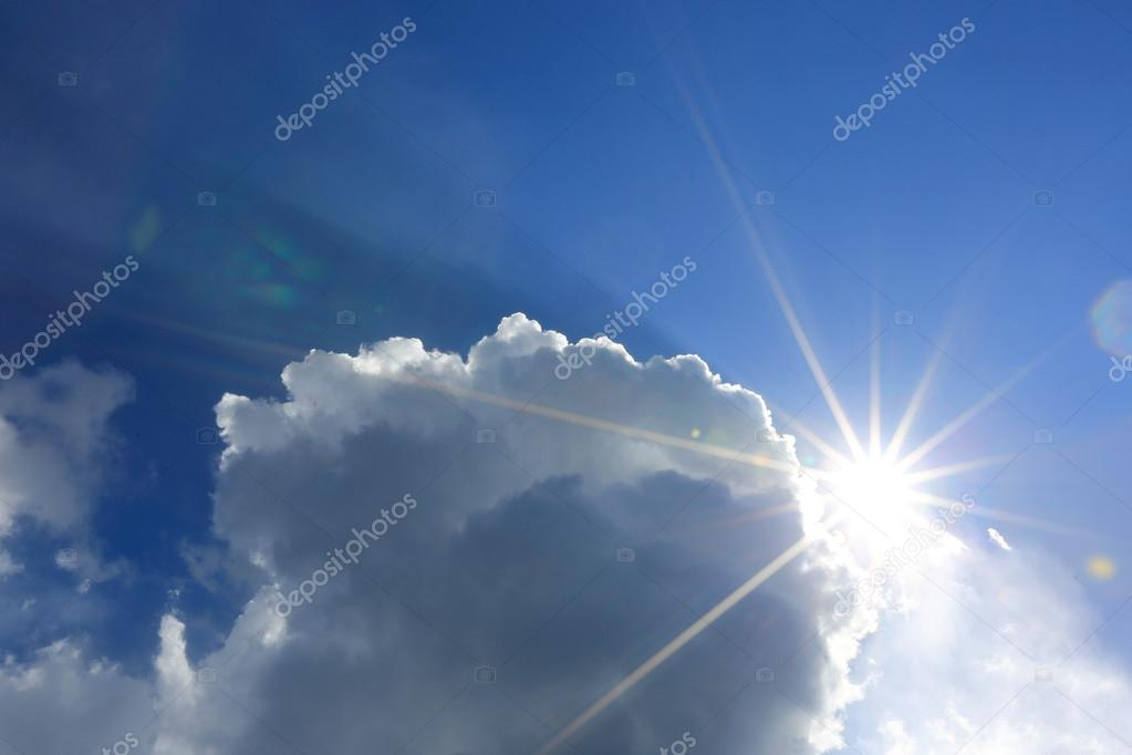 nice sunshine in clouds