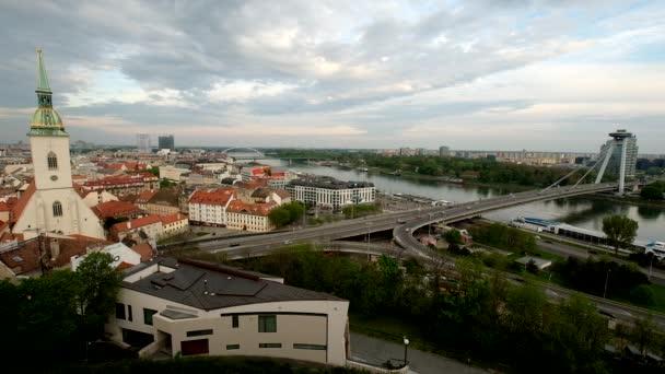 Bratislava, Slovensko staré městské centrum Panorama