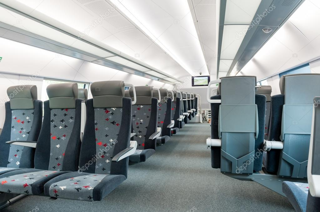 Interior of modern train stock photo. Image of comfortable - 6690504