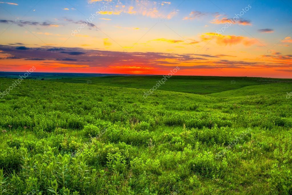 Sunset over the Kansas Flint Hills