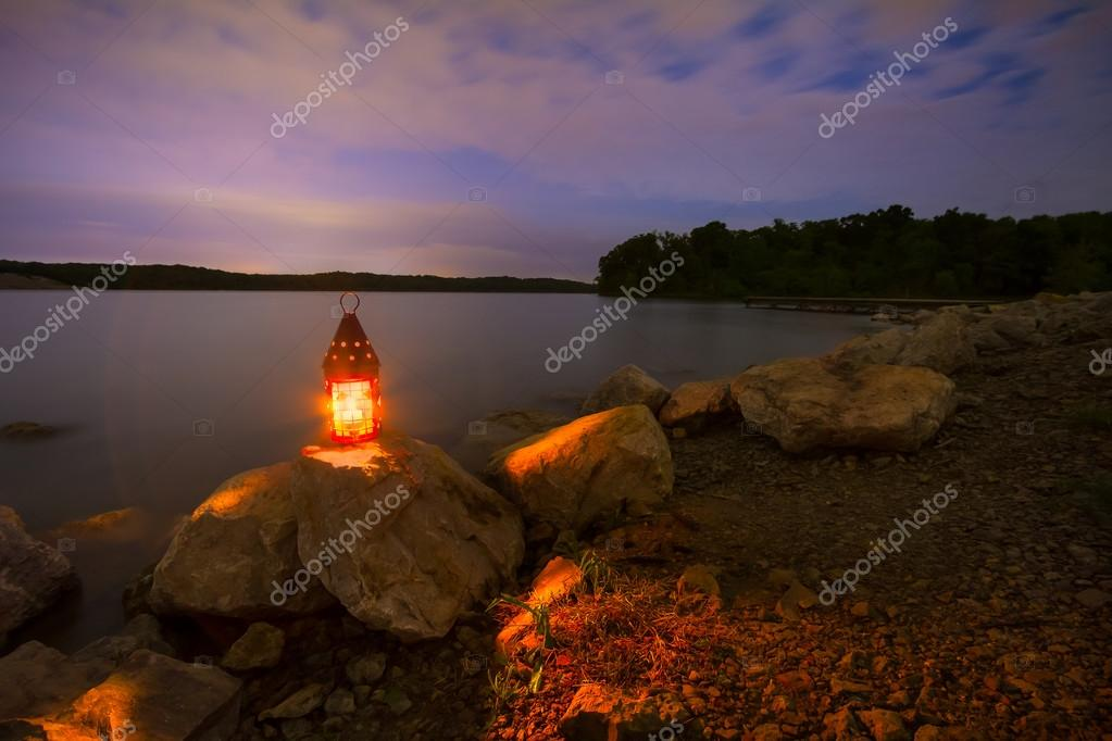 Blue Springs Lake at Night