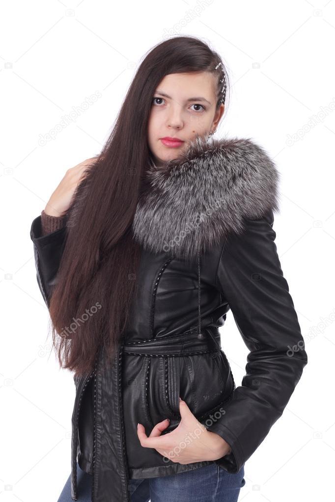 b94e1029a025 ragazza in abbigliamento invernale — Foto Stock © lanych #116060918