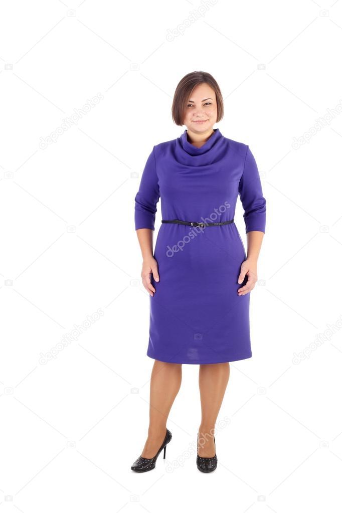 Vestido de niña demostrando azul — Foto de stock © lanych #73538035