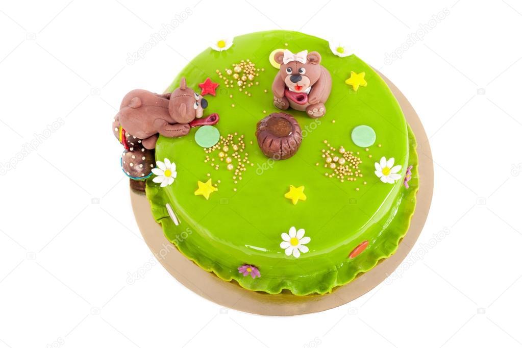 Tårta För Barn Födelsedag Stockfotografi Lanych 79247136