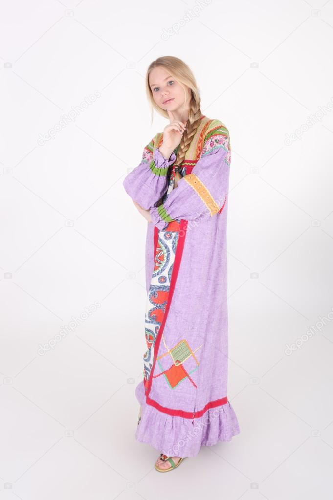 Russische Folklore Kleidung Madchen Stockfoto C Lanych 92320794