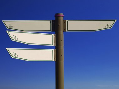Blank direction signpost