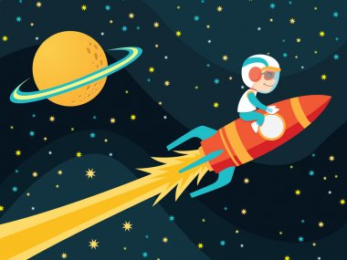 Rocket boy astronaut
